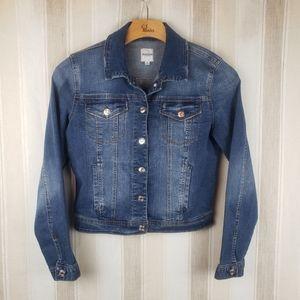 Kensie Jeans Jean Jacket Pockets Blue Size Small